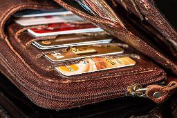 Samling av kreditkort.