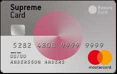 Supreme Card Woman - Kreditkort som skänker 1 krona till Cancerfonden vid varje köp.